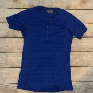 Blue Athleta Pacifica Tee
